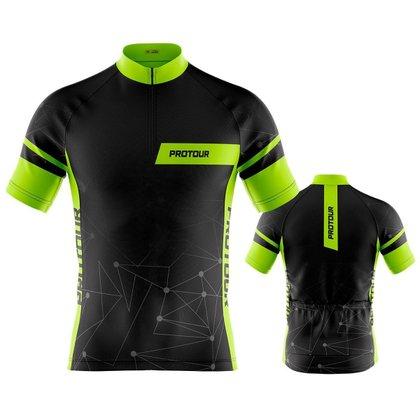 Camisa Ciclismo Masculina Mountain bike Pro Tour Linear Com Bolsos Proteção Solar UV50