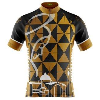Camisa Ciclismo Masculina Mountain Bike Pro Tour Nossa Senhora Dourada Com Bolsos
