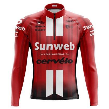 Camisa Ciclismo Masculina Mountain Bike Sunweb 166