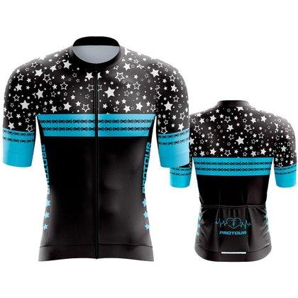 Camisa Ciclismo Pro Tour Premium Estrelas Mountain Bike manga aero dry fit uv+50