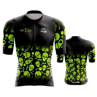 Camisa Ciclismo Pro Tour Premium Halloween Mountain Bike dry fit proteção uv  + 50