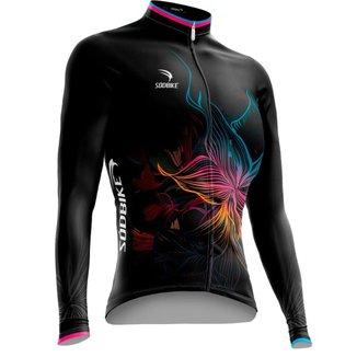Camisa Ciclismo Sódbike Flower Flanelada - XG