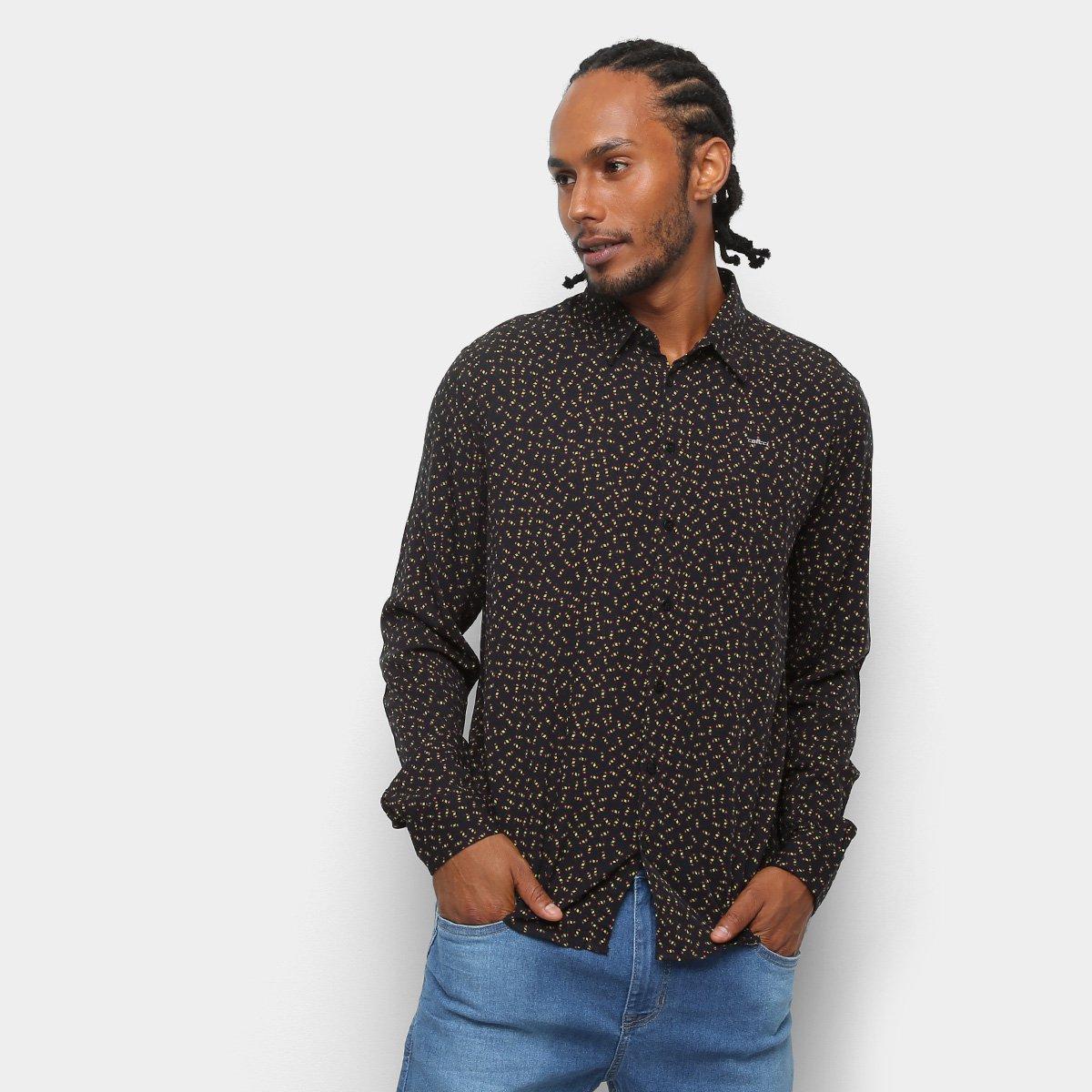 Camisa Colcci Manga Longa Estampada Slim Masculina - Marrom e Laranja -  Compre Agora  cce39fcc0a2