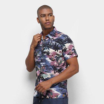 Camisa Colcci Tropical Relax Masculina