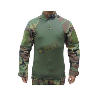 Camisa Combat Shirt Hrt  - Woodland - Dacs