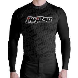 Camisa Compressão UV JiuJitsu Gray Atlética Esportes