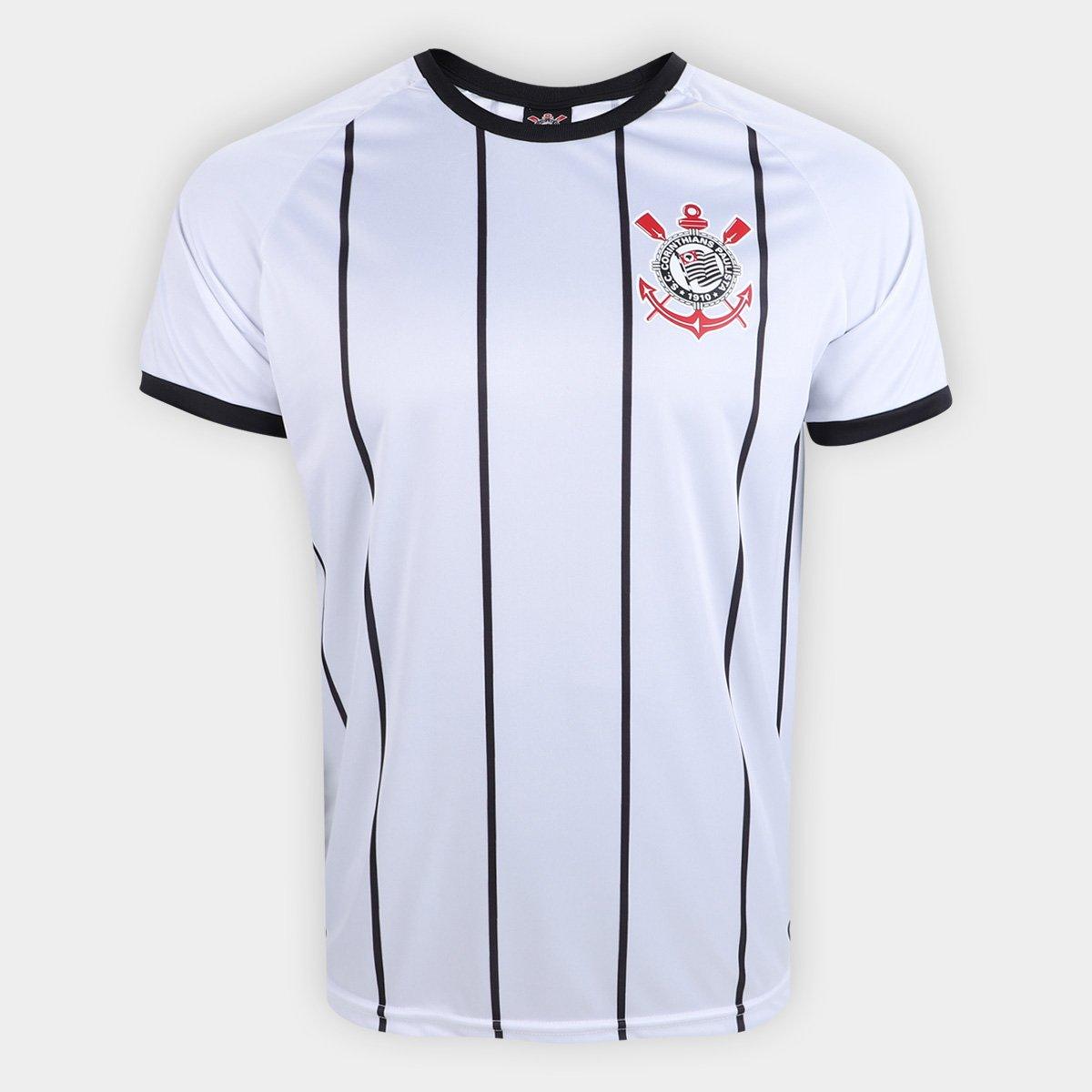 f058538e2b2ad Camisa Corinthians Fenomenal - Edição Limitada Torcedor Masculina - Branco  e Preto - Compre Agora