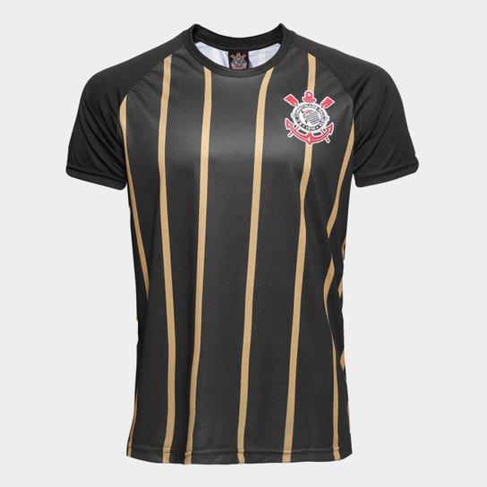 Camisa Corinthians Gold nº10 - Edição Limitada Masculina - Preto+Dourado