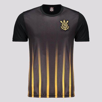 Camisa Corinthians Golden Preta e Dourada