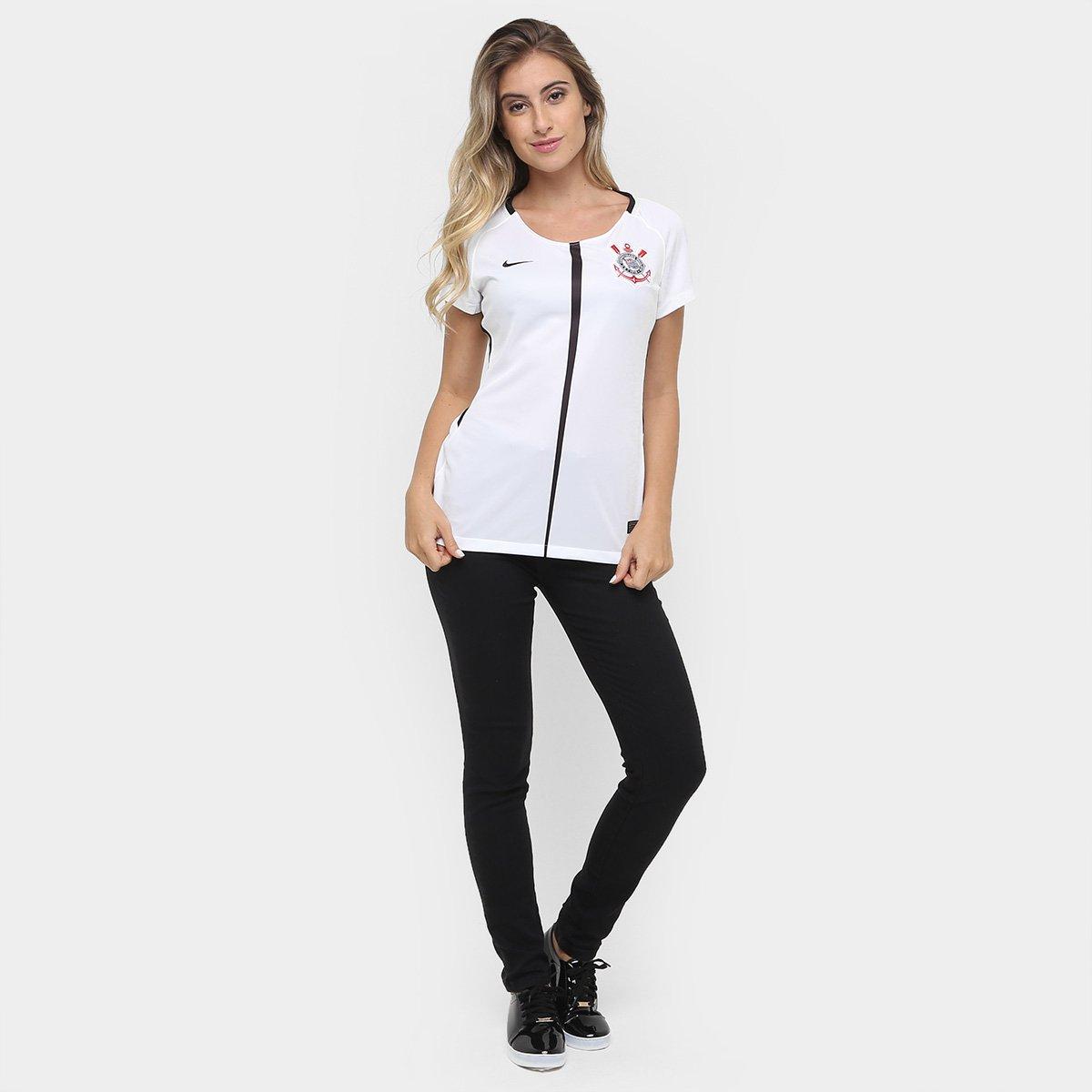 52386aac3c Camisa Corinthians I 17 18 s nº Torcedor Nike Feminina - Compre ...