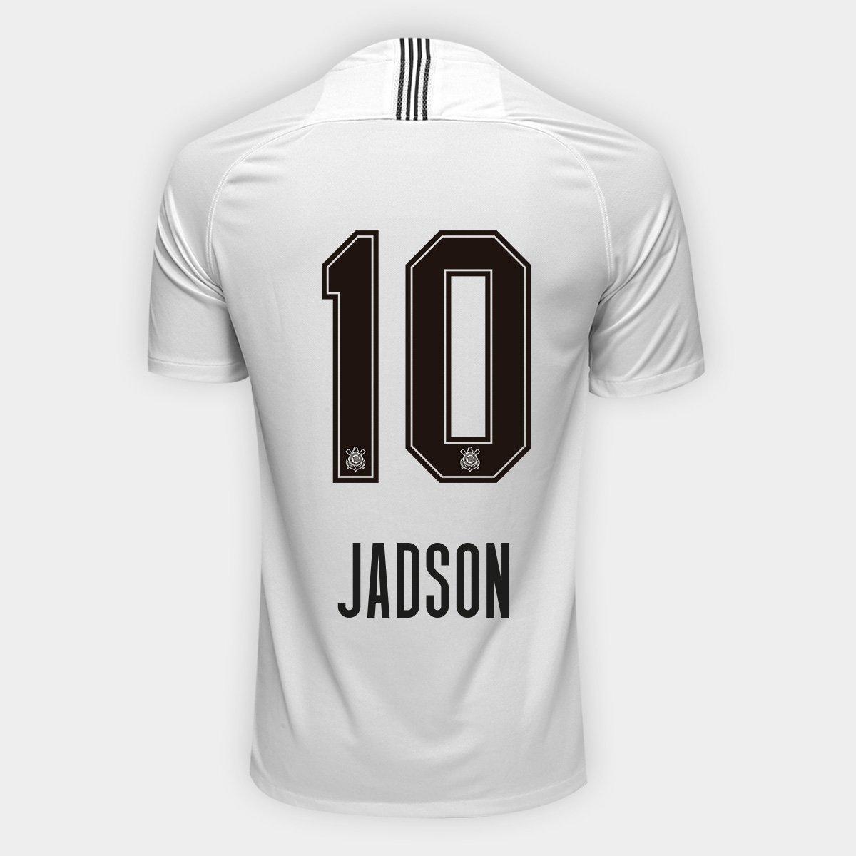 03302c198c Camisa Corinthians I 18 19 Nº 10 Jadson - Torcedor Nike Masculina - Compre  Agora