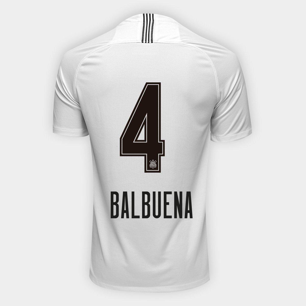 83a83047a12ce Camisa Corinthians I 18/19 Nº 4 Balbuena - Torcedor Nike Masculina    Netshoes