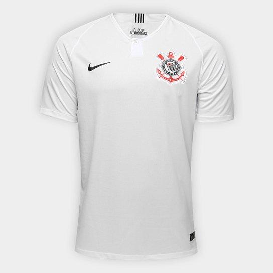 Camisa Corinthians I 18/19 s/n° Torcedor Nike Masculina - Branco+Preto