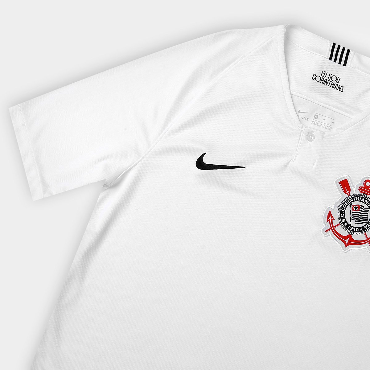 99fda7d994 Camisa Corinthians I 18 19 s n° Torcedor Nike Masculina - Branco e ...