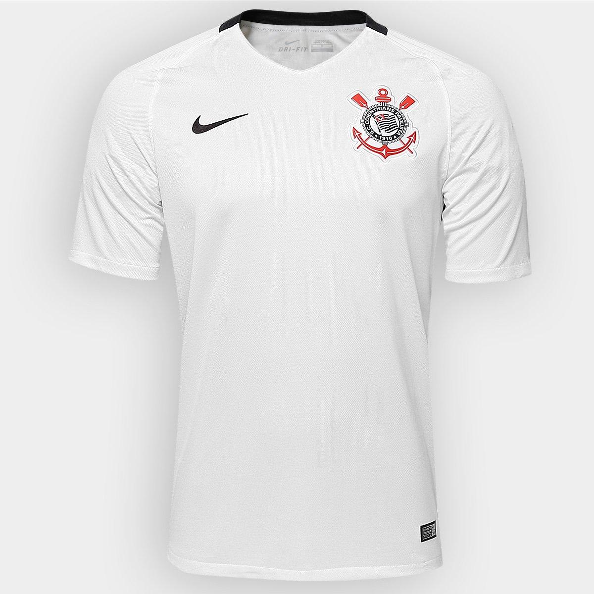 17f670f0ae405 Camisa Corinthians I 2016 s nº Torcedor Nike Masculina - Compre Agora