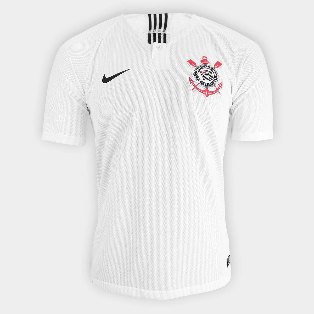 c47f431cf1e6c Camisa Corinthians I 2018 s n° - Jogador Nike Masculina - Branco e Preto -  Compre Agora