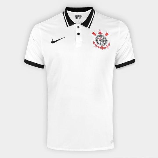 Camisa Corinthians I 20/21 s/n° Torcedor Nike Masculina - Branco+Preto