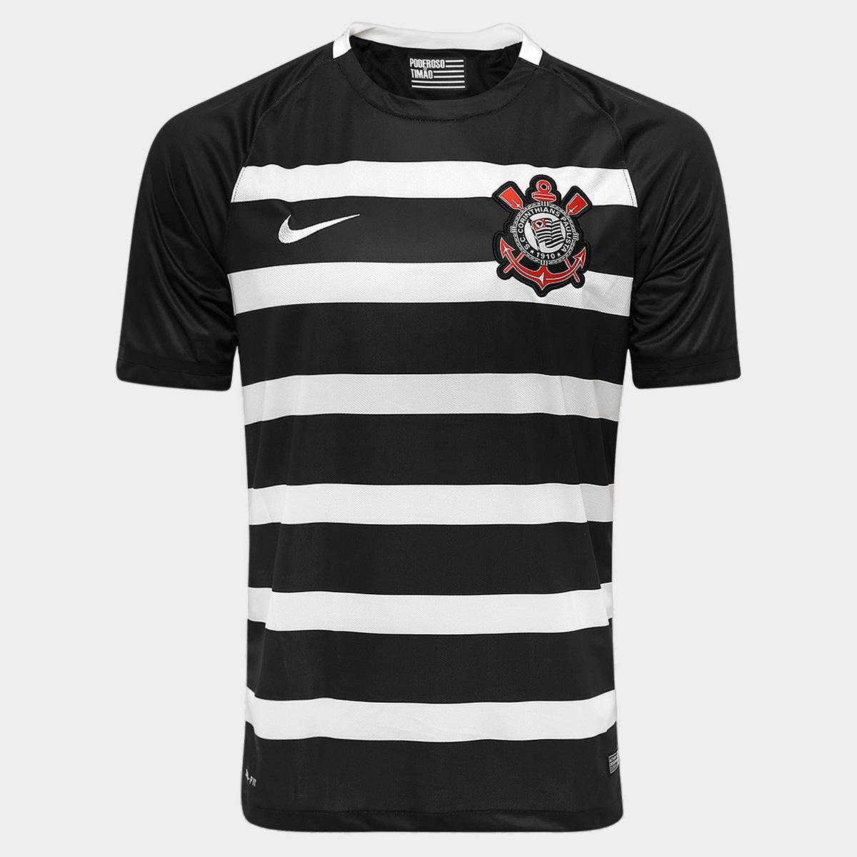 f3703e2b17 Camisa Corinthians II 15 16 s nº - Torcedor Nike Masculina - Compre Agora