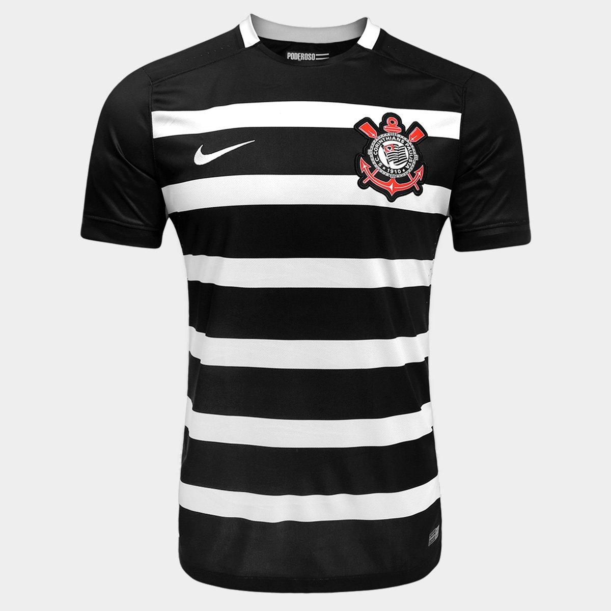 d491efdb9d4d4 Camisa Corinthians II 15 16 s nº Torcedor Nike Masculina - Compre Agora