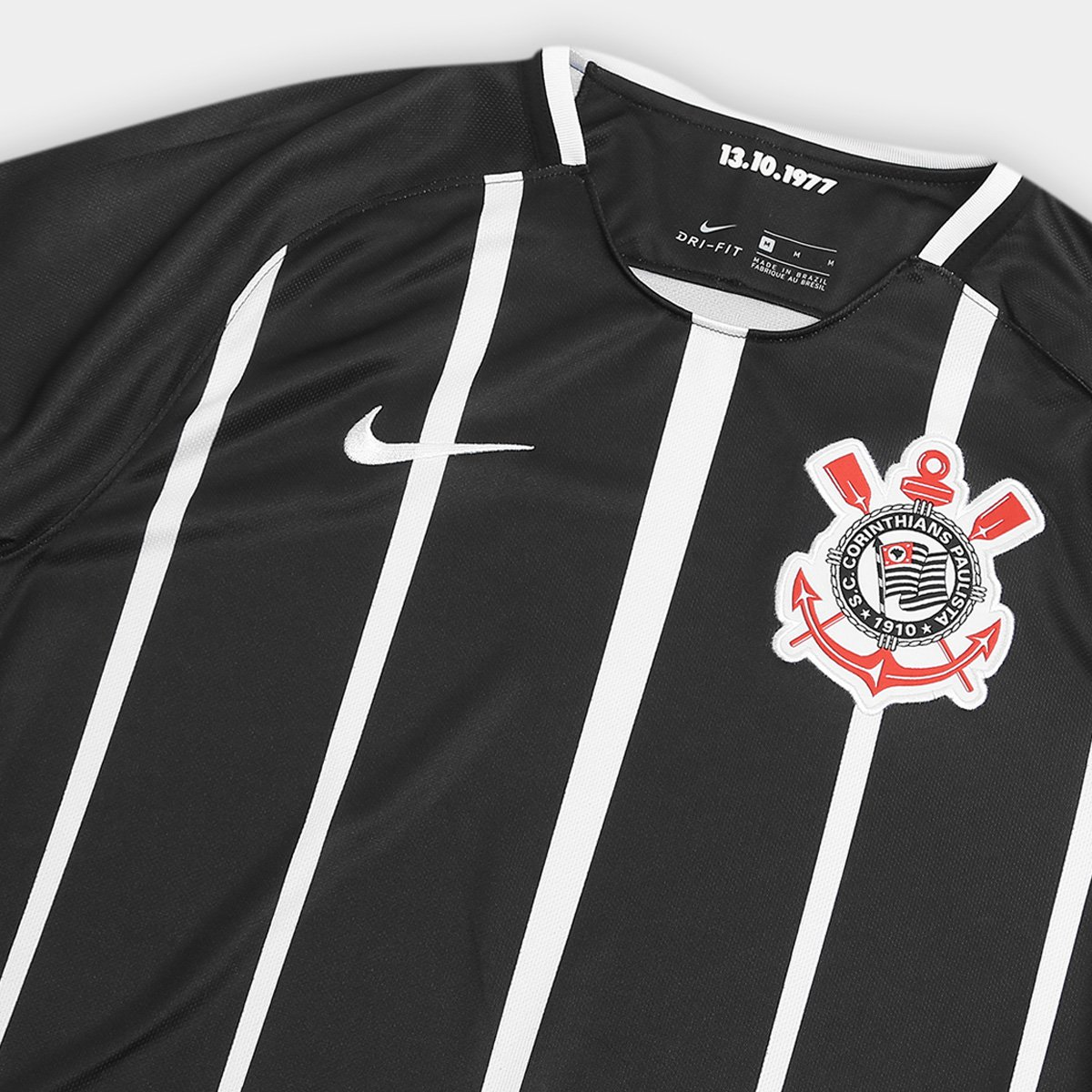 ... Camisa Corinthians II 17 18 s nº Torcedor Nike Masculina - Preto e . 8c9564b90100c
