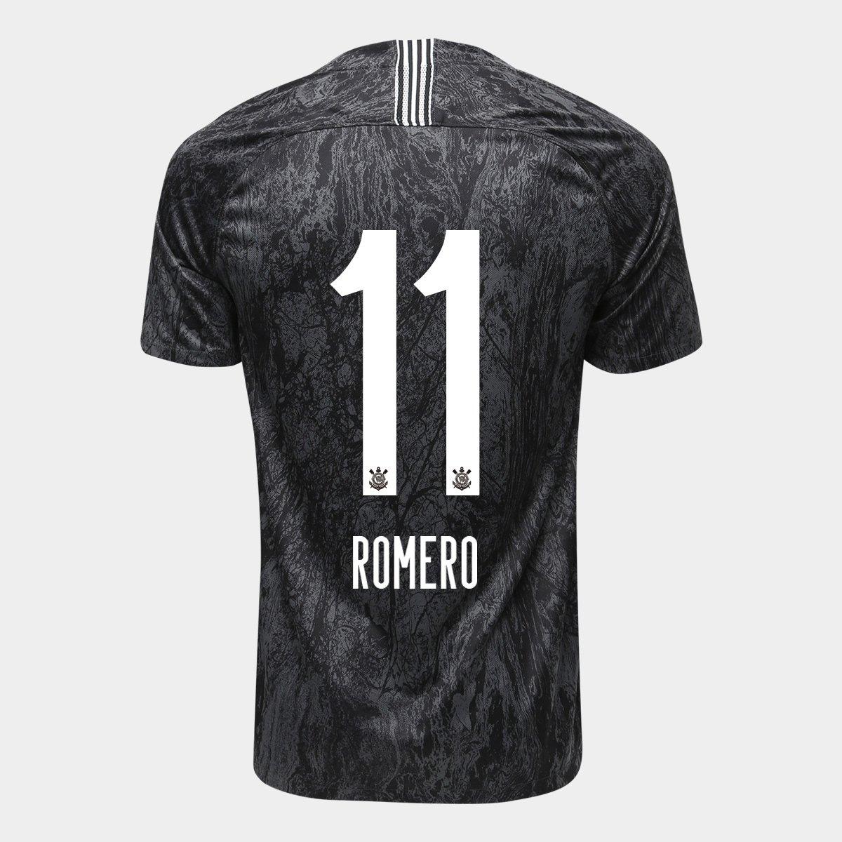 Camisa Corinthians II 18 19 Nº 11 Romero - Torcedor Nike Masculina - Compre  Agora  25325fadabdcb