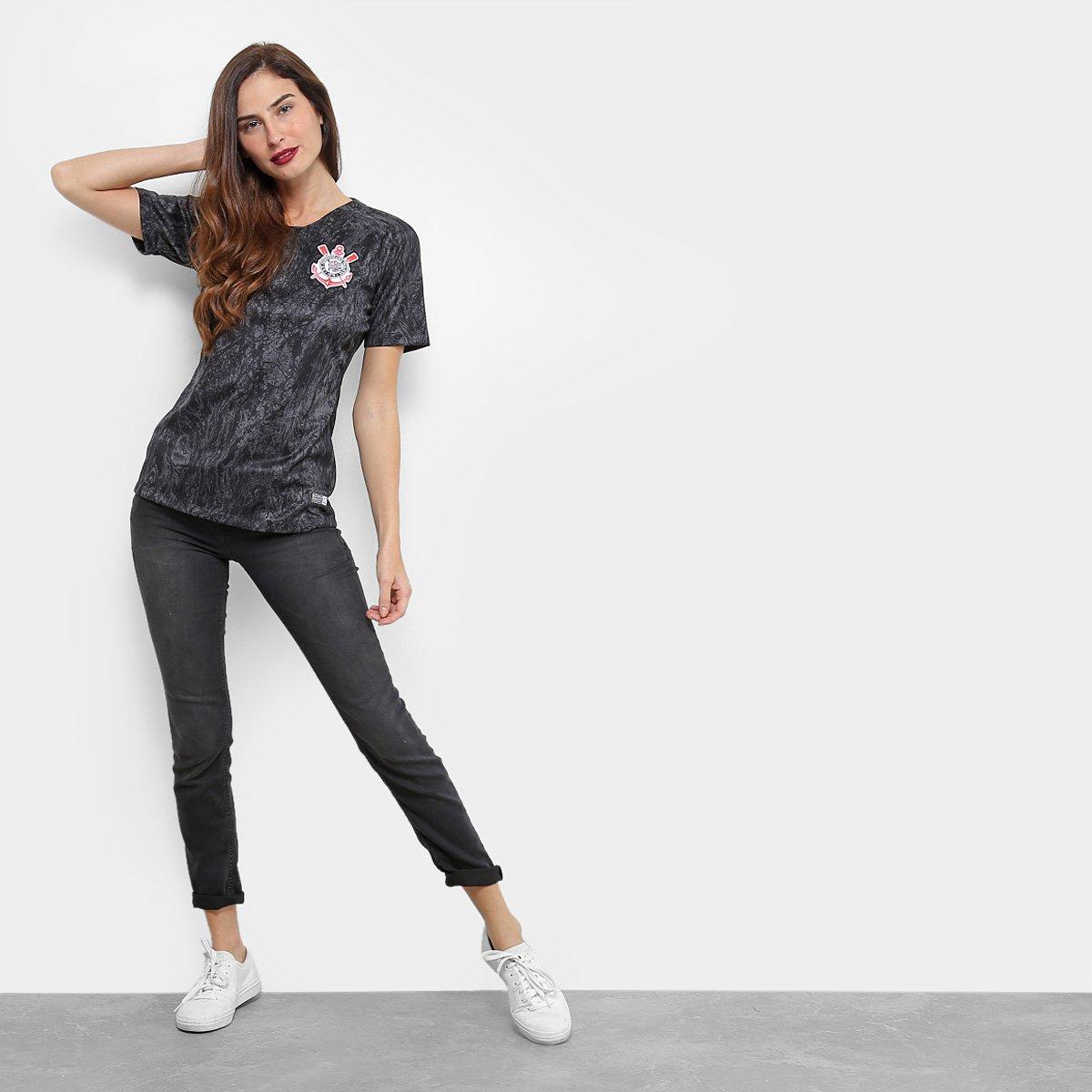 ... Feminina Nike Camisa s Corinthians II Torcedor 18 n° 19 Preto nwnPS1Aq  ... 95ad46604b030