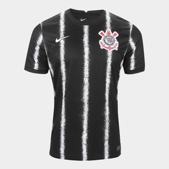 Camisa Corinthians II 21/22 s/n° Torcedor Nike Masculina - Preto+Branco