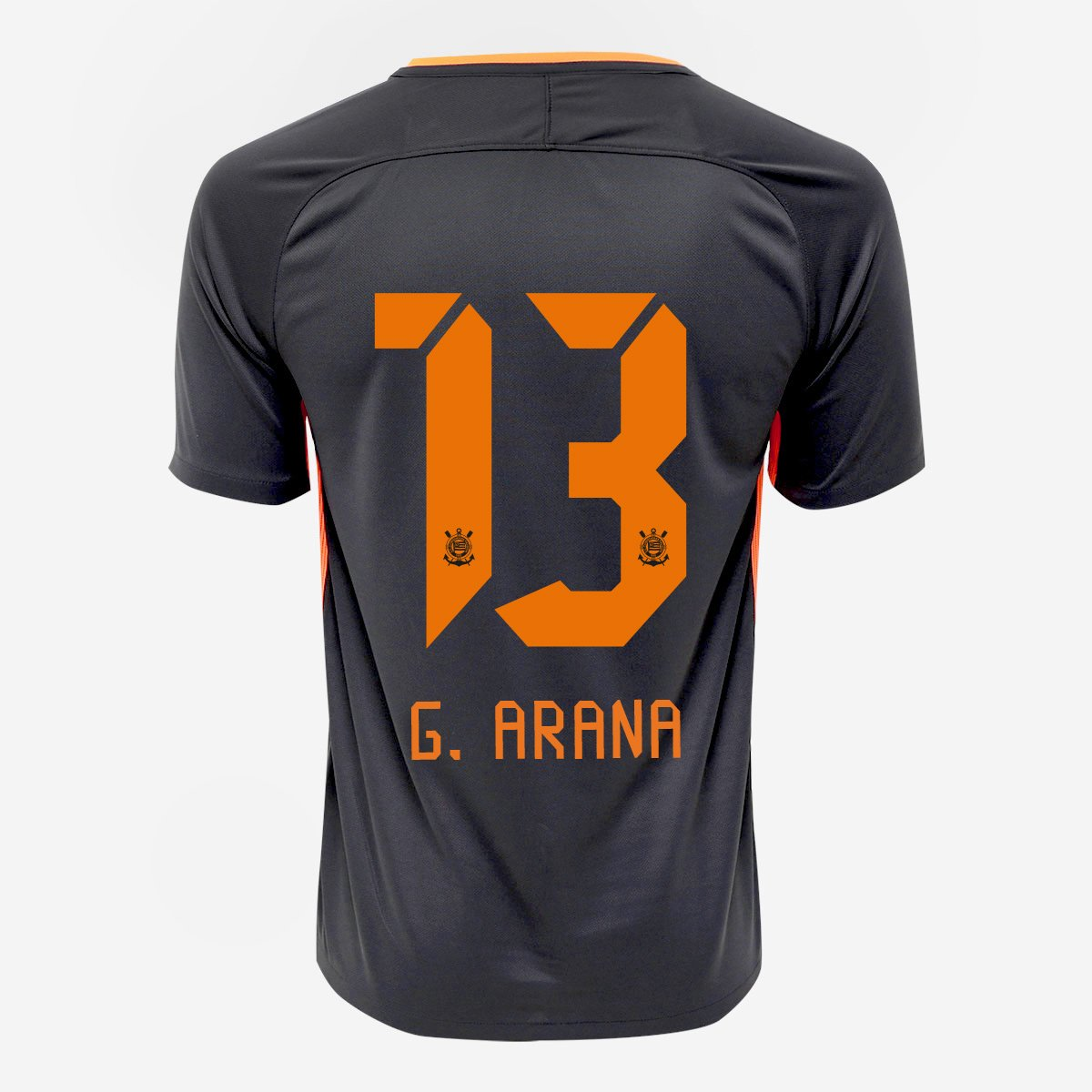 Camisa Corinthians III 17 18 nº 13 - G. Arana Torcedor Nike Masculina -  Compre Agora  b582e78469727