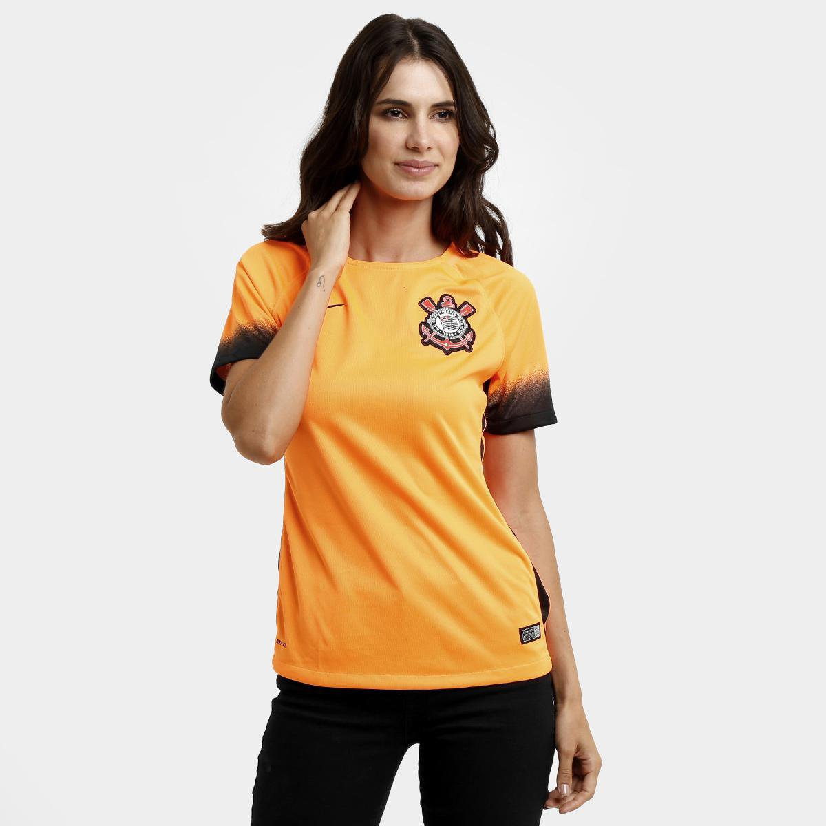 cb6891e663 Camisa Corinthians III 2015 s nº Torcedor Nike Feminina - Compre Agora