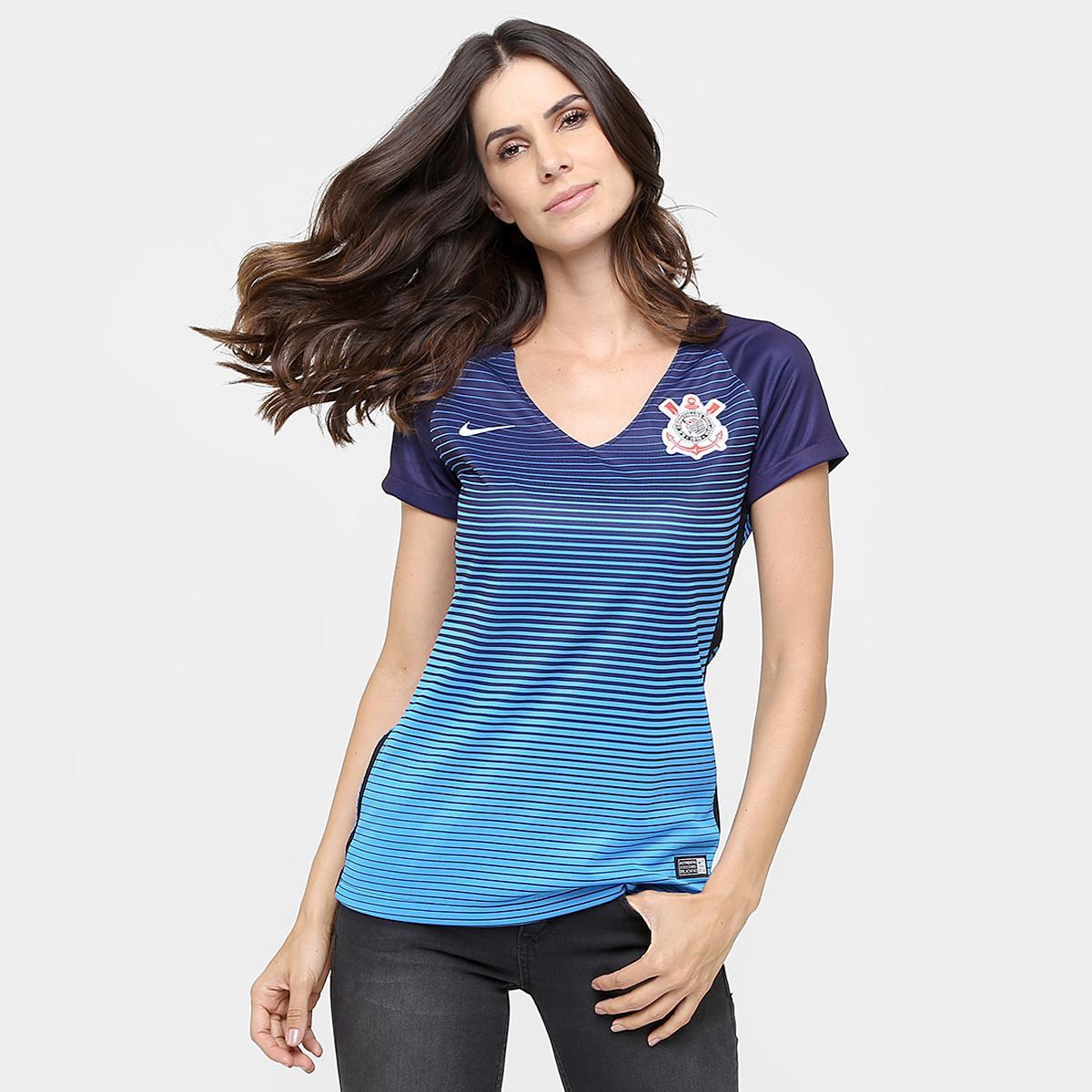 8a8628b3f97bf Camisa Corinthians III 2016 s nº Torcedor Nike Feminina - Compre Agora