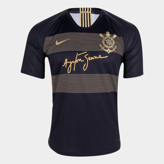 Camisa Corinthians III 2018 s/n° - Jogador Nike Masculino - Preto+Dourado