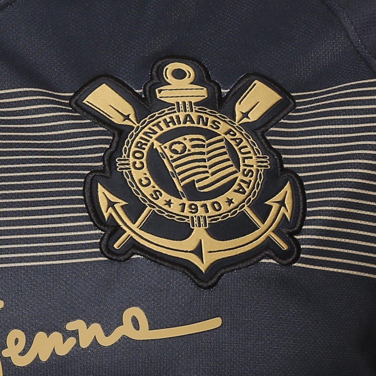 471a673582 Camisa Corinthians III 2018 s n° - Torcedor Nike Masculina - Preto e ...