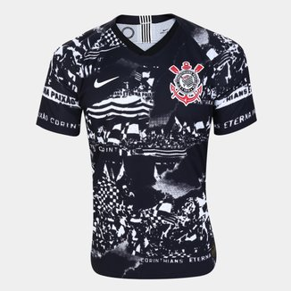Camisa Corinthians III Invasões 19/20 Jogador s/nº Nike Masculina