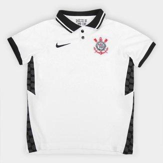 Camisa Corinthians Infantil I 20/21 s/n° Torcedor Nike