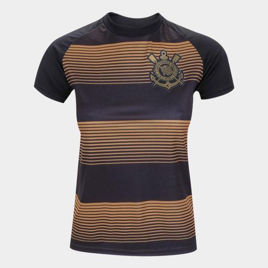 Camisa Corinthians Infantil Silverstone Edição Limitada - Preto+Dourado