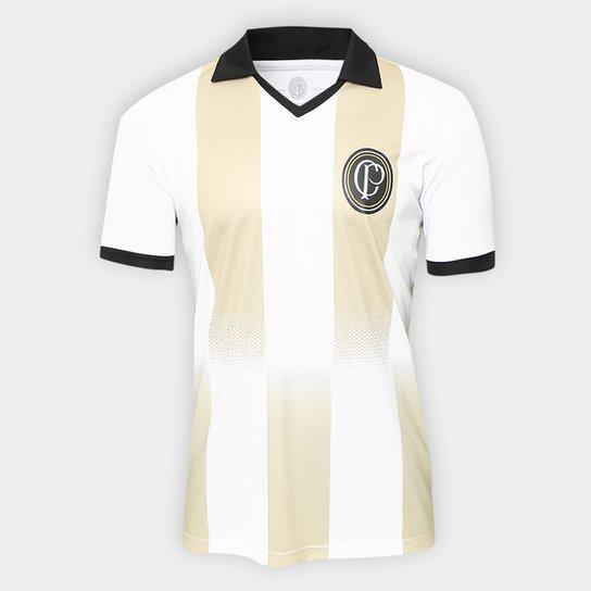 Camisa Corinthians n° 9 Centenário - Edição Limitada Masculina - Branco+Preto