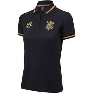 Camisa Corinthians Polo Ouro Feminina