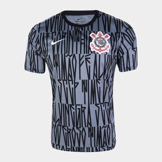 Camisa Corinthians Pré Jogo 19/20 Nike Masculina