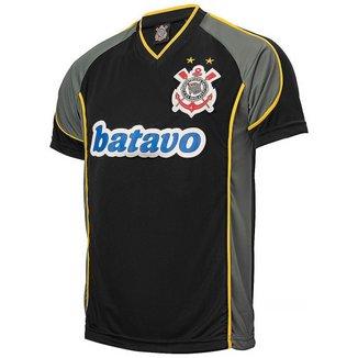 Camisa Corinthians Retrô Brasileiro 1999 Uniforme III Masculina