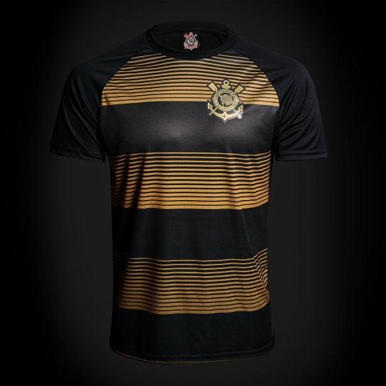Camisa Corinthians Silverstone Edição Limitada Masculina - Preto+Dourado