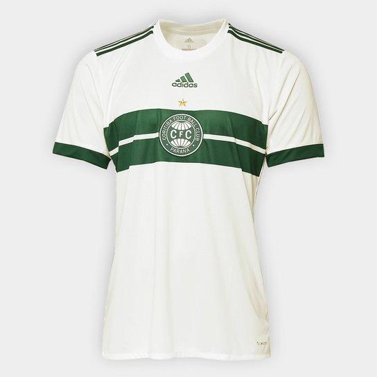 Camisa Coritiba I 17/18 s/n° - Torcedor Adidas Masculina - Bege+Verde