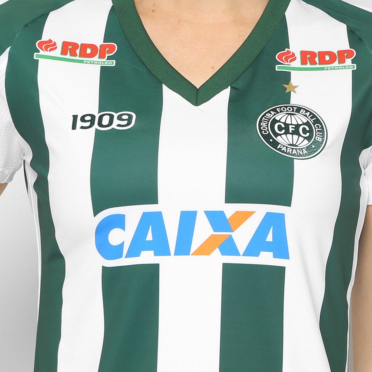 a0d79b7740 Camisa Coritiba II 2018 s n° C Patrocínio - Jogador 1909 Feminina ...