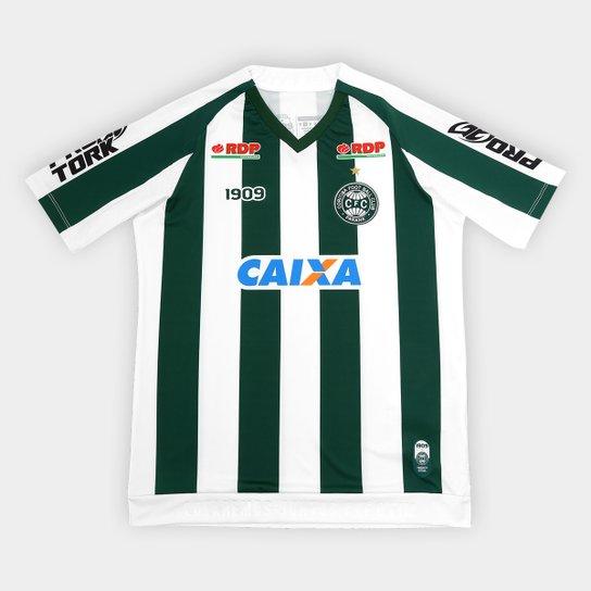 Camisa Coritiba II 2018 s/n° C/Patrocínio - Jogador 1909 Juvenil - Verde+Branco