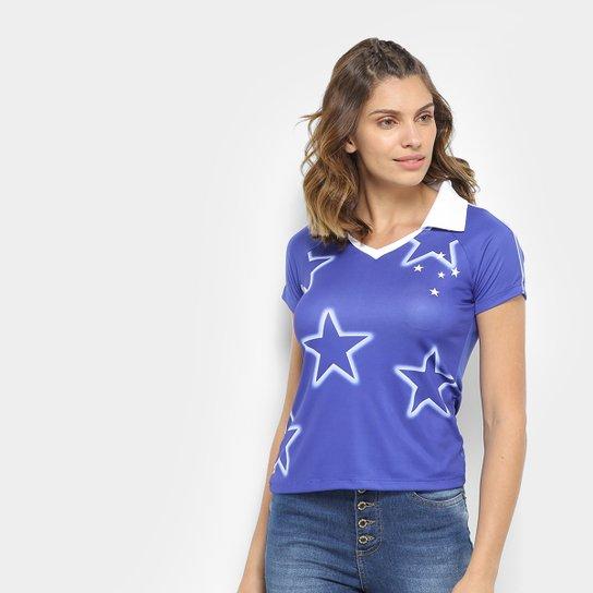 Camisa Cruzeiro 1997 s/n° Feminina - Azul