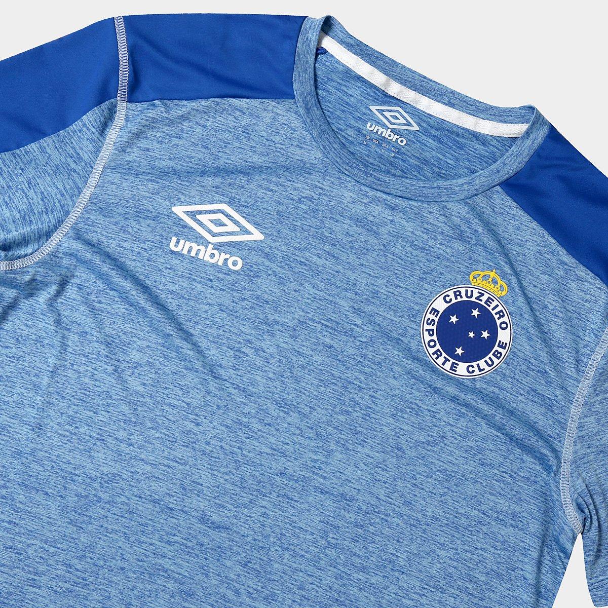 Camisa Cruzeiro 2019 Aquecimento Umbro Masculina - Azul - Compre ... b4e6343a858f0