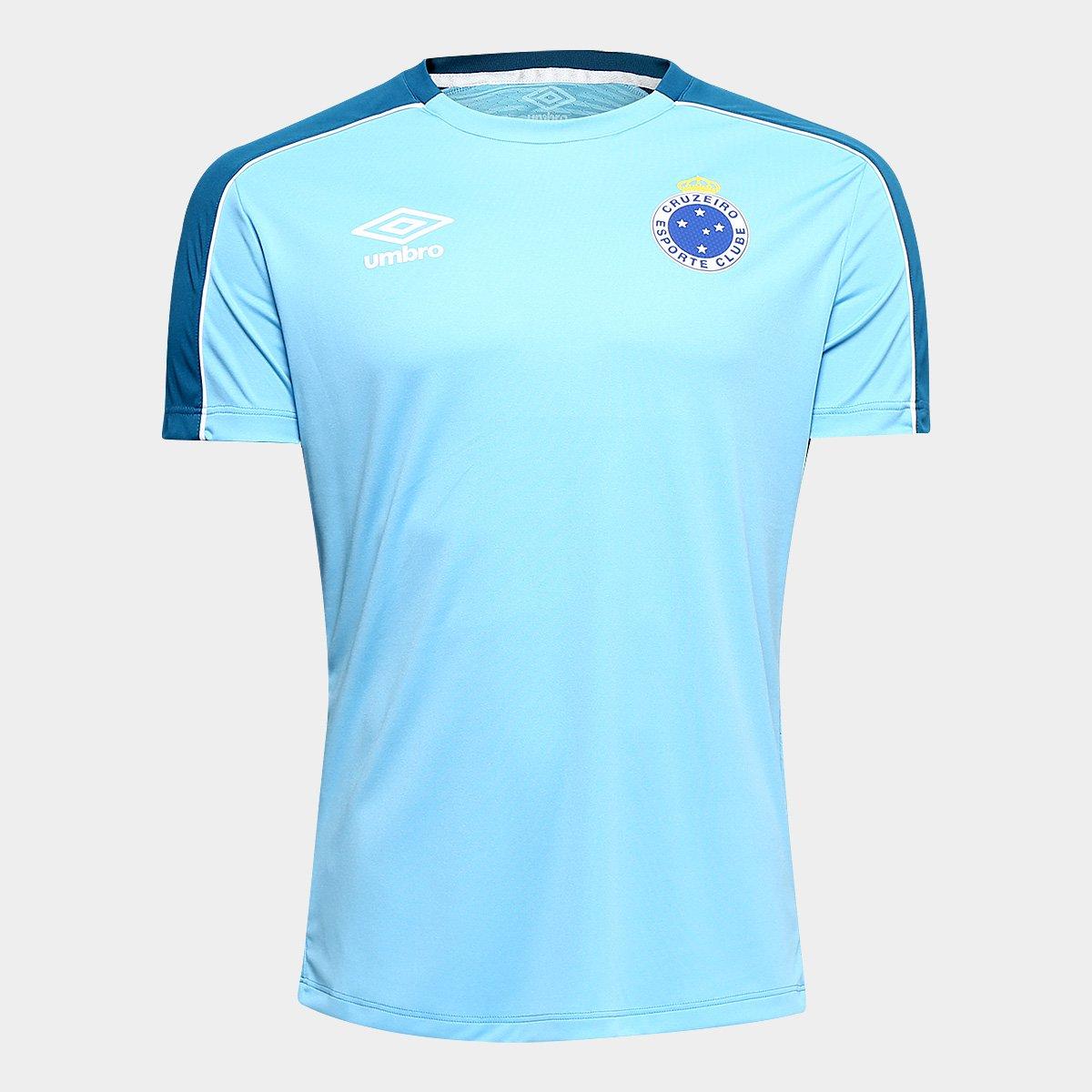 89a1bd3e54014 Camisa Cruzeiro 2019 Treino Umbro Masculina - Azul e Branco - Compre Agora