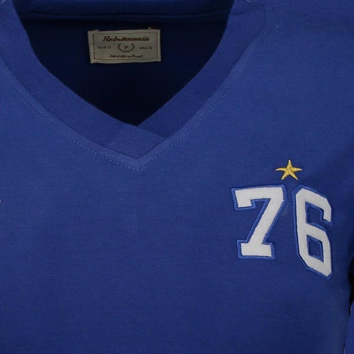 Camisa Cruzeiro Alviceleste 1976 Retrô Feminina - Azul - Compre ... 84fcc050c208d