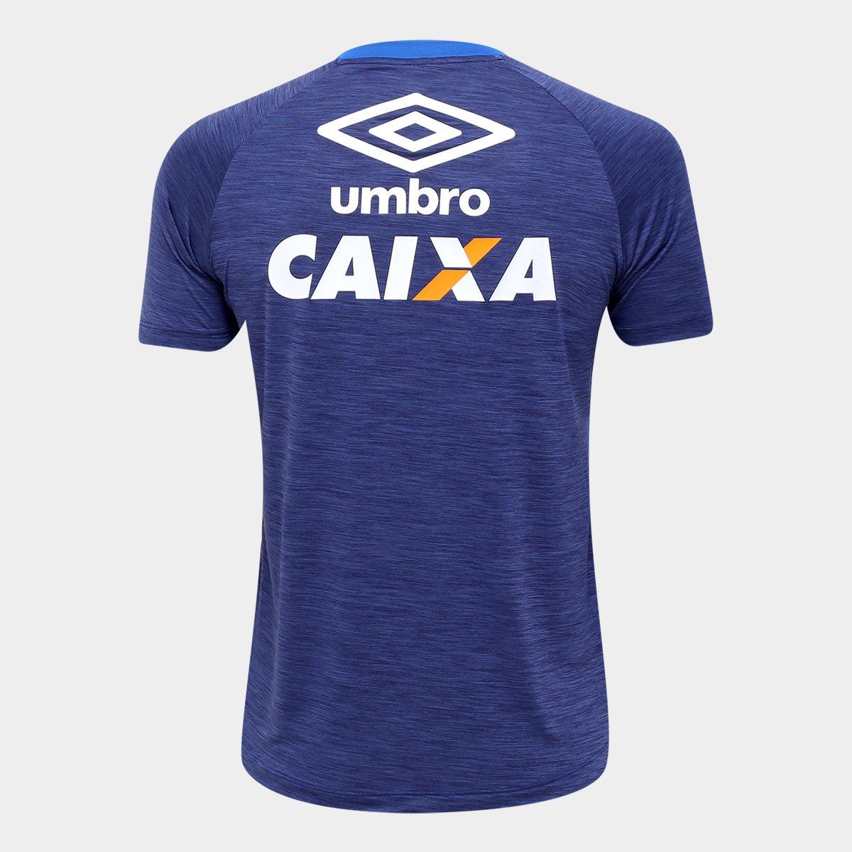 b17e526c2f Camisa Cruzeiro Aquecimento 17 18 Umbro Masculina - Marinho e Azul ...