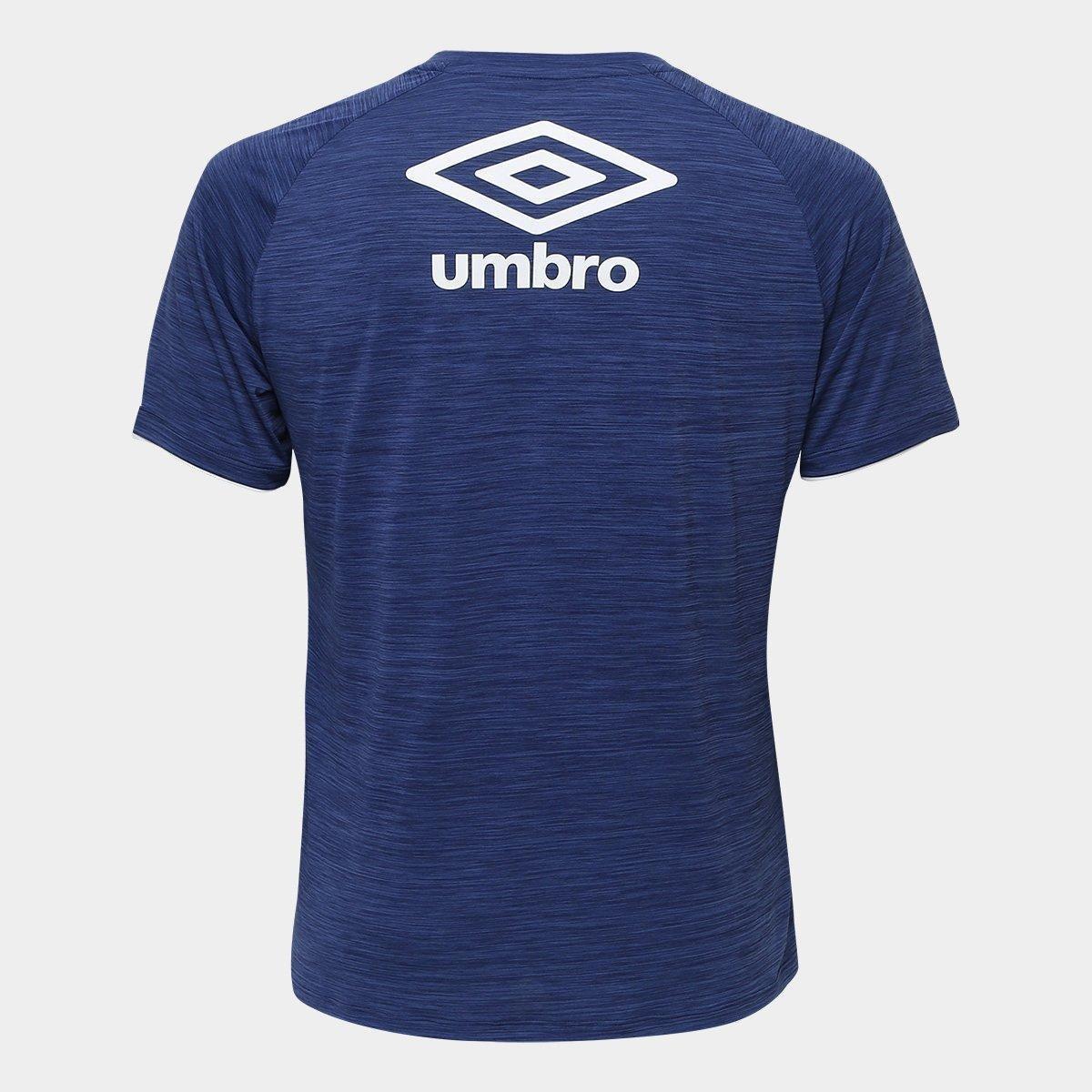 8a61d502ab Camisa Cruzeiro Aquecimento 2018 Umbro Masculina - Marinho e Verde ...