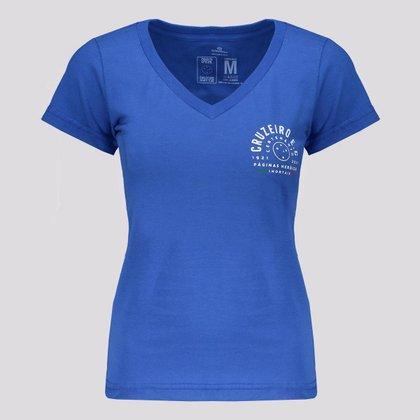 Camisa Cruzeiro Centenário Feminina Azul